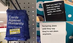 cards against humanity expansion pack cards against humanity chosen pack removed daily mail
