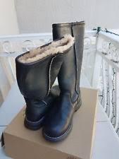 womens black leather boots australia womens ugg australia kensington black leather boots 5768 us size 6