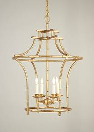 Gold Chandelier Light Gold Faux Bamboo Chandelier