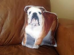 shape cushion pug puggle bulldog print cushions pillow sofa home