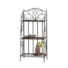 Sei Bakers Rack Baker U0027s Racks In Material Iron Color Black Ebay