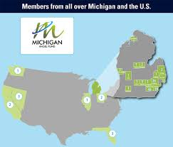 Map Of The State Of Michigan by Angels Michigan Angel Fund