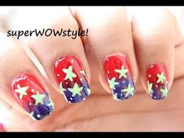 4th of july nail art tutorial us flag nail designs independence