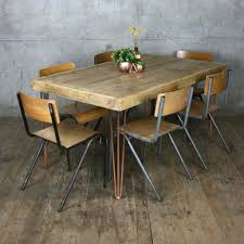 Hairpin Leg Vintage Industrial Dining Table  X Cm Mustard - Copper kitchen table