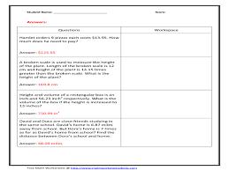 decimal multiplication word problems 3rd 4th grade worksheet