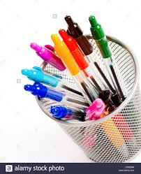pencil holder for desk a background of desk top pen holder full of brightly colored pens
