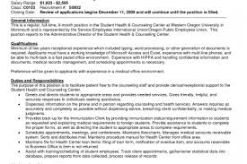 Medical Receptionist Resume Examples by Secretary Resume For Doctors Reentrycorps