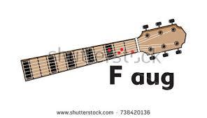 vector set guitar chord chord diagram stock vector 738422329