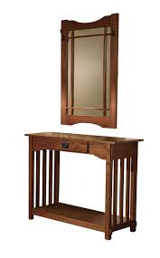Entry Table Ls Powell Mission Oak Console And Mirror Kitchen Dining