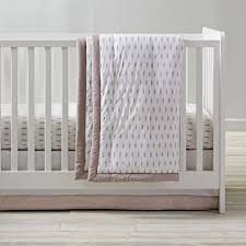 iconic crib bedding feather the land of nod