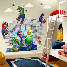 mario wall decals super mario children wall stickers 2 for 20 boys aliexpress cartoon zooyoo super mario bros wall stickers boy room decoration kids art decal mural home