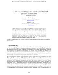 a relevant believable approach for data quality assessment pdf