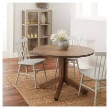 round farmhouse kitchen table newfield 42 round farmhouse dining table gray wash threshold