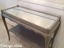 vintagemimi 1950s french provincial sofa table