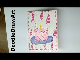 how to draw a happy birthday card step by step birthday card