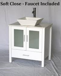 30 Inch Modern Bathroom Vanity by 30 Inch White Bathroom Vanity White Square Porcelain Vessel Style