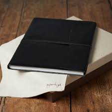black leather photo album antara soft black leather photo album by paper high