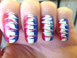 4th of july independence day 2011 easy needle drag nail art
