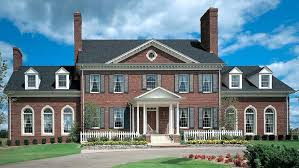 federal style house brick colonial house plans federal style house plan small brick