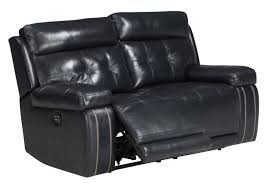 Power Reclining Sofa Set Graford Collection 64703 Power Reclining Navy Blue Top Grain