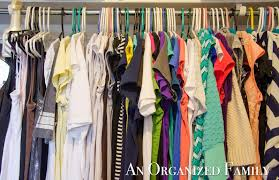an organized family organizing your spring closet