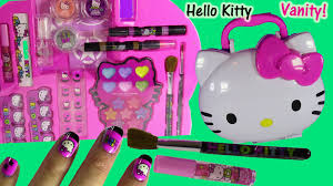 Hello Kitty Bedroom Set In A Box Hello Kitty Makeup Vanity Case Light Up Mirror Brushes Nails Lip