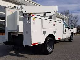 1999 used ford super duty f 450 bucket truck 27 ft terex bucket at