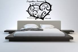 Bedroom Wall Stickers Uk Heart And Wedding Rings As Personalised Love Sticker For Bedroom
