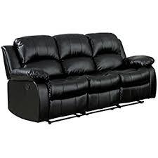 Buy Recliner Sofa Homelegance Reclining Sofa Black Bonded