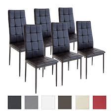 sedie per sala da pranzo albatros sedia per sala da pranzo rimini set di 6 sedie nero
