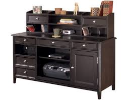 ashley furniture carlyle large leg desk carlyle credenza and short hutch by ashley furniture sylvan furniture