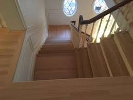 red oak wood floor and stair restoration avondale