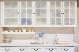 white frosted glass kitchen cabinet doors decorative privacy for kitchen windows and glass