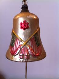 Glass Bell Christmas Ornaments - rare antique germany glass patriotic bell christmas ornament great