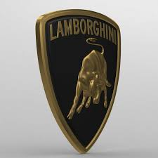 lamborghini symbol drawing lamborghini logo 2 3d model in parts of auto 3dexport