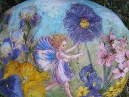 hand painted flower u0026 fairy rocks hand painted garden flower