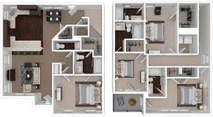 floorplans outpost fort collins csu 2 3 4 u0026 5 bedroom layouts