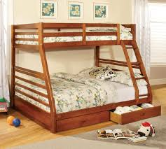 patrick wood twin over double bunk bed