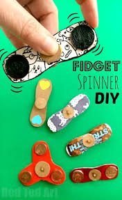 how to make a fidget spinner diy fidget toys summer crafts and