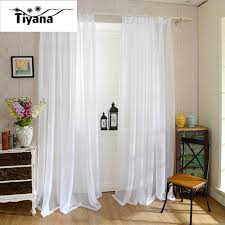 Yarn Curtains Europe Solid White Yarn Curtain Window Tulle Curtains For Living