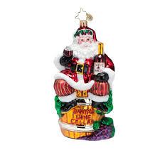 radko ornaments 2015 radko wine santa ornament spirit of the