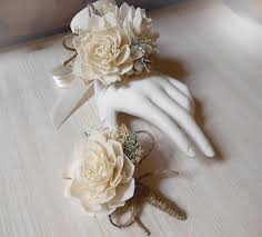 Corsage And Boutonniere Set Wrist Corsage And Or Boutonniere Sola Flowers Rustic Country