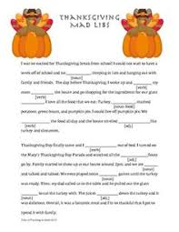 thanksgiving mad libs keep the and even the adults happy