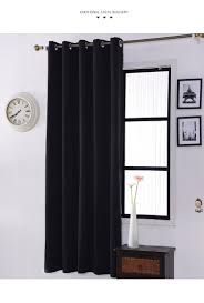 polyester finished modern window blackout curtains for living room