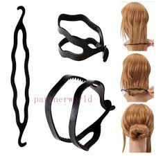 bun clip magic hair pony maker plastic hair styling bun maker shaper