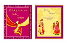 indian wedding invitation cards indian wedding invitation card stock vector illustration of