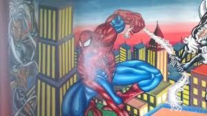 awesome marvel super heroes painted room tour spiderman hulk awesome marvel super heroes painted room tour spiderman hulk spiderman black cat storm phoenix youtube