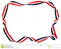 white and blue ribbon white blue ribbon stock image image 19603921