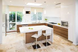 modern wooden kitchens wood kitchen designs antiqued white island granite top stools