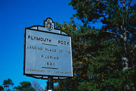 thanksgiving 1620 sign marking plymouth rock massachusetts pictures